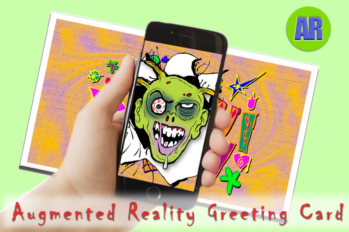 ZombiaForia AR Greeting Card