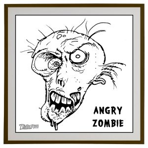 Angry Zombie©ZombieForia™Art Print