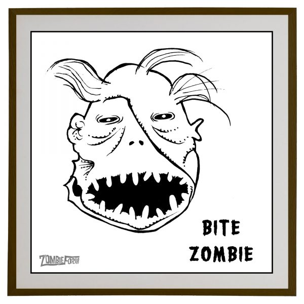 Bite Zombie©ZombieForia™Art Print
