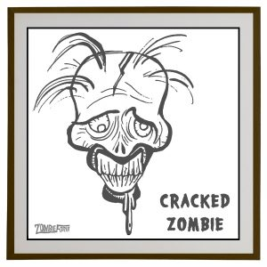 Cracked Zombie©ZombieForia™Art Print