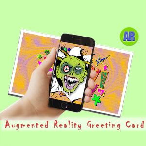 ZombieForia Augmented Reality Greeting Card